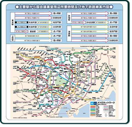 表見返し裏--地下鉄路線案内図